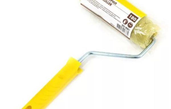 Валик 180 мм полиакрил с ручкой Biber