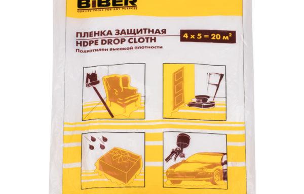 Пленка защитная для ремонтных работ 4*5 м, Biber