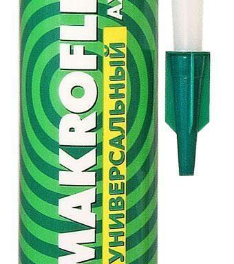 Герметик AX104, силиконовый бесцветный 290 мл, Makroflex