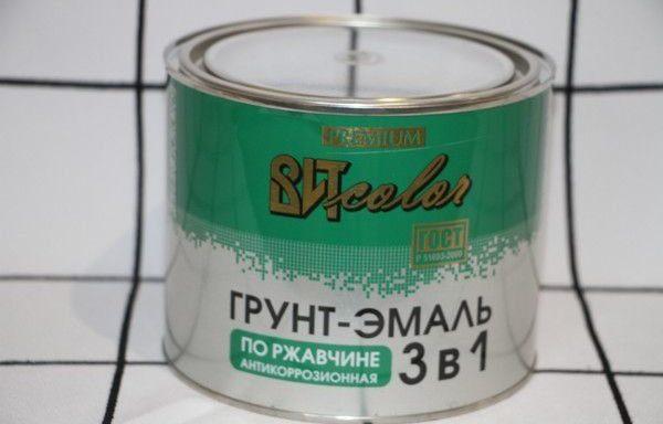 Грунт-эмаль по ржавчине, серая, 1.8 кг