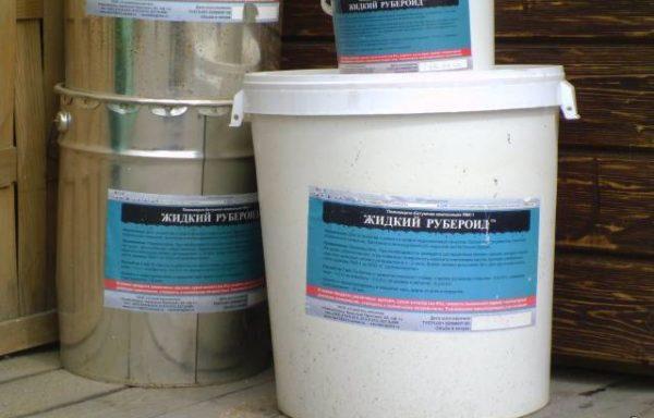 Мастика битумная жидкий рубероид 10 л