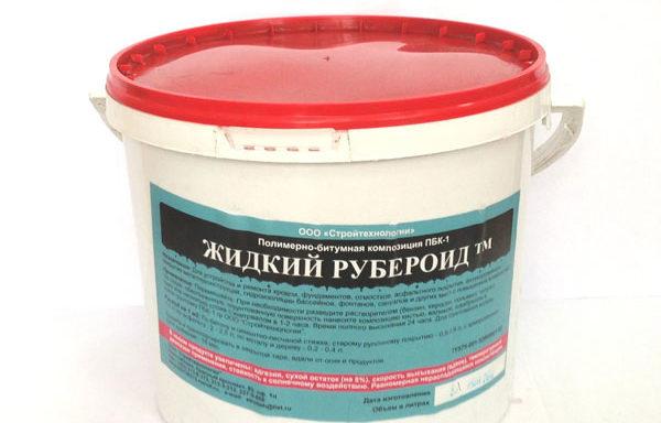 Мастика битумная жидкий рубероид 5 л