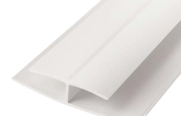 Профиль H-образный соединительный для панелей пвх 3м пластик белая
