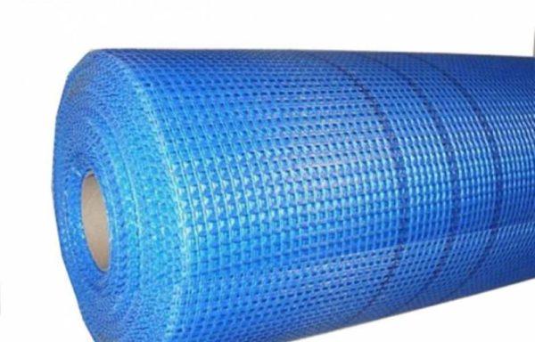 Сетка фасадная 180 г-м2, синяя, 50 м