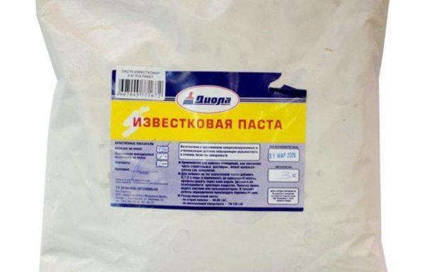 Известковая паста отбеленная Диола 3 кг