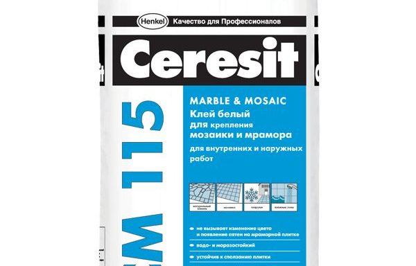 Клей для мозайки и мрамора CM115 Ceresit 5 кг
