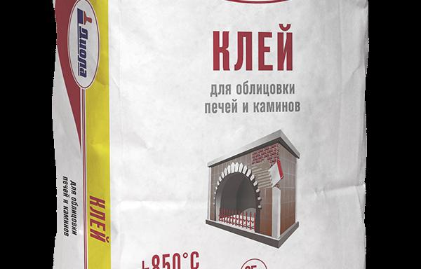 Клей для облицовки печей и каминов Д314 +850С Диола 25 кг