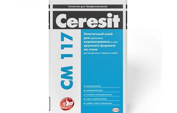 Клей для плитки внутр.наруж. работ белый CM117 Ceresit 25 кг