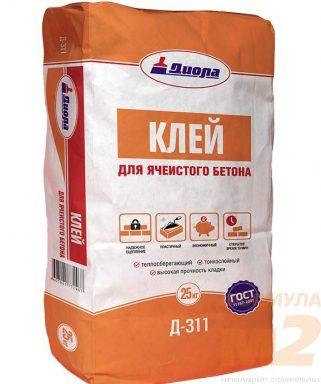 Клей для ячеистого бетона Д311 Диола 25 кг