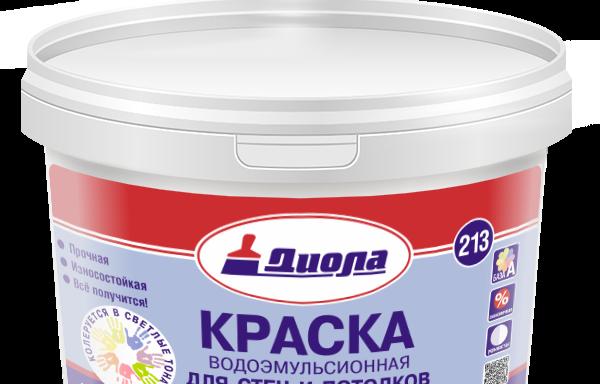 Краска водоэмульсионная для потолков и стен Д213 Диола 14 кг