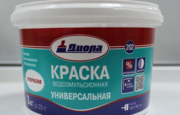 Краска водоэмульсионная универсальная Д202 Диола 4,5 кг