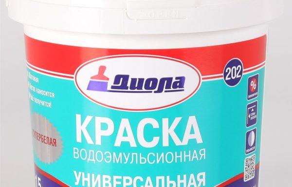 Краска водоэмульсионная универсальная Д202 Диола 7,5 кг