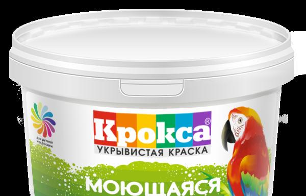 Краска моющаяся белая акриловая Крокса 4,5 кг