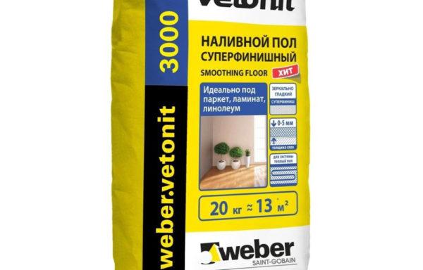 Ровнитель пола 3000 Weber Vetonit 20 кг
