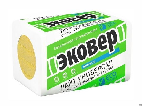 Теплоутеплитель Эковер Лайт 35 1000х600х60мм