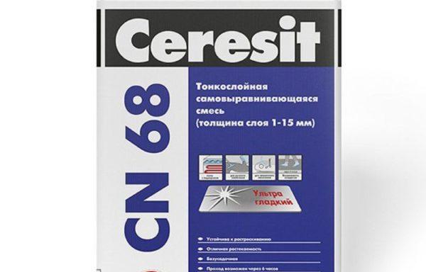 Тонкослойная самовыравнивающаяся смесь CN68 1-15 мм CE33 Ceresit 25 кг
