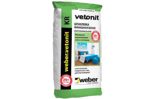 Шпаклевка финишная для сухих помещений ПР Weber Vetonit 20 кг