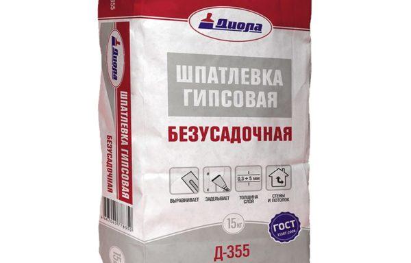Шпатлевка гипсовая безусадочная Д-355 Диола 10 кг