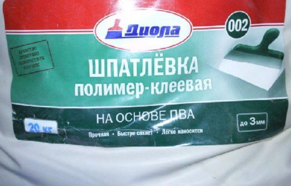 Шпатлевка полимерная Д-002 Диола 20 кг